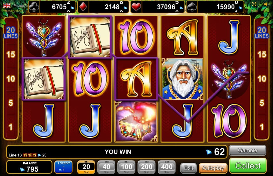 start online casino book of magic
