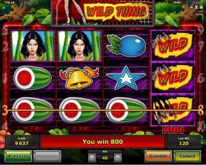 Wild Thing Slot - Spielen Sie Novomatic-Spiele zum Spaß online