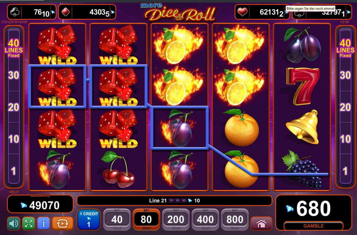 spiel slots online dice and roll
