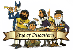 Microgaming Age of Discovery logo