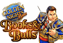 Gamomat - Books and Bulls Golden Nights slot logo